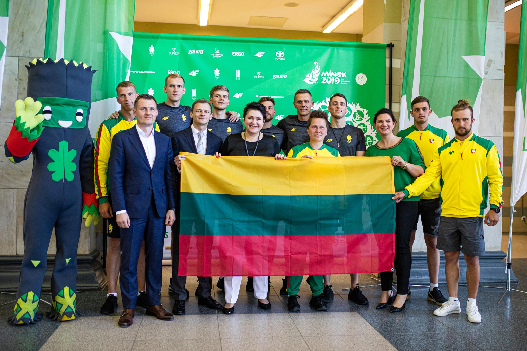 Lietuvos sportininkai į Europos žaidynes keliauja traukiniais