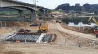 Tilto statybos darbai prie Kauno vyksta visu pajėgumu